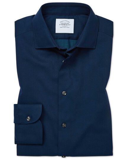 Extra slim fit micro diamond blue shirt