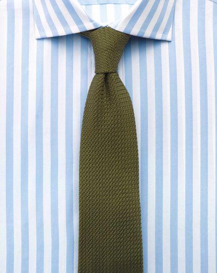 Classic fit semi-spread collar Egyptian cotton stripe sky blue shirt