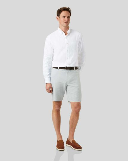 Linen Cotton Shorts - Light Grey