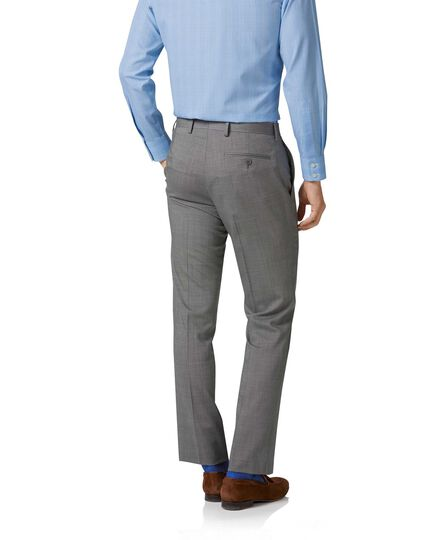 Costume argent slim fit à tissage échelle