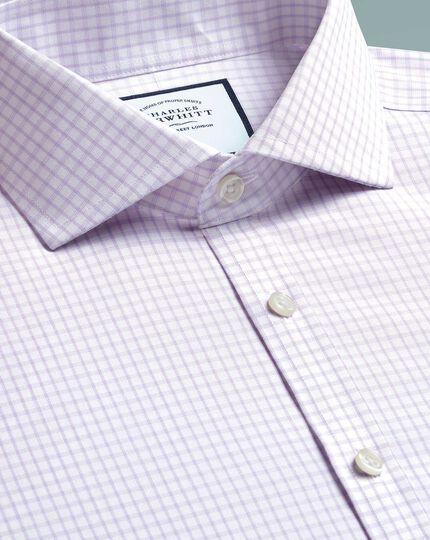Bügelfreies Super Slim Fit Hemd mit 4-Way-Stretch in Lila