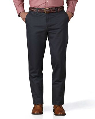 Grey slim fit flat front weekend chinos