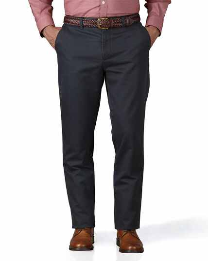 Grey slim fit flat front washed chinos