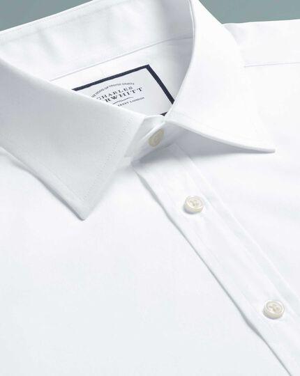 Chemise blanche en popeline de coton égyptien coupe droite
