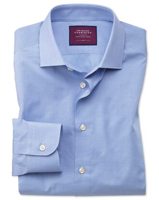Slim fit blue small puppytooth luxury shirt