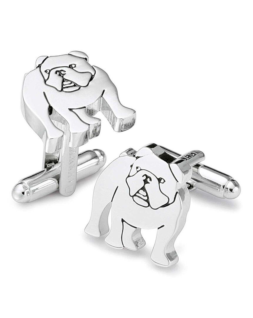 Silver bulldog cufflinks