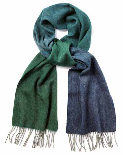 Green ombre lambswool scarf
