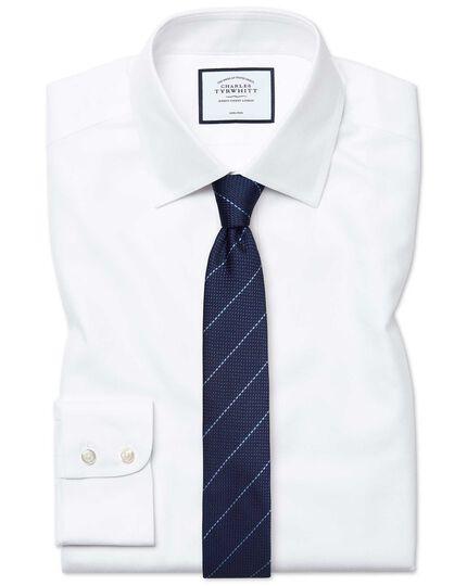 Extra slim fit non-iron white royal Panama shirt