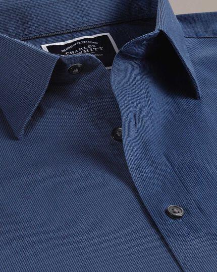 Classic Fit Hemd mit weicher Struktur in Königsblau
