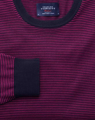 Navy merino crew neck sweater