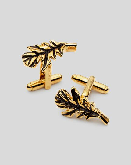 Oak Leaf Cufflinks - Gold