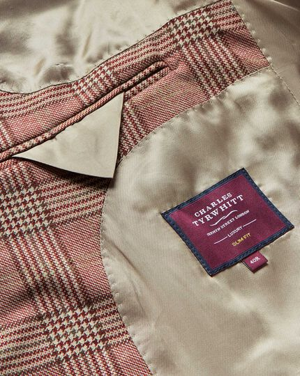 Prince of Wales Check British Luxury Jacket - Red