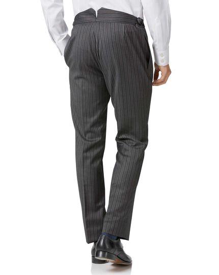 Black stripe slim fit morning suit trousers   Charles Tyrwhitt