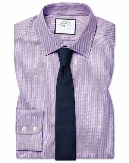 Extra slim fit Egyptian cotton chevron purple shirt