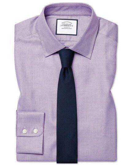 Extra slim fit Egyptian cotton chevron purple shirt