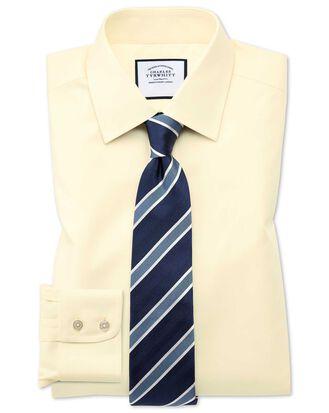 Classic fit non-iron twill yellow shirt