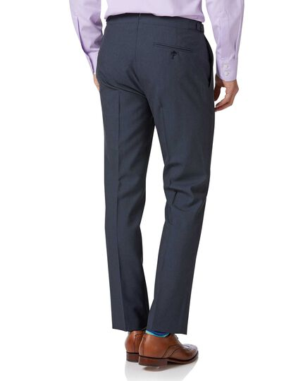 Blue Panama slim fit British suit Pants