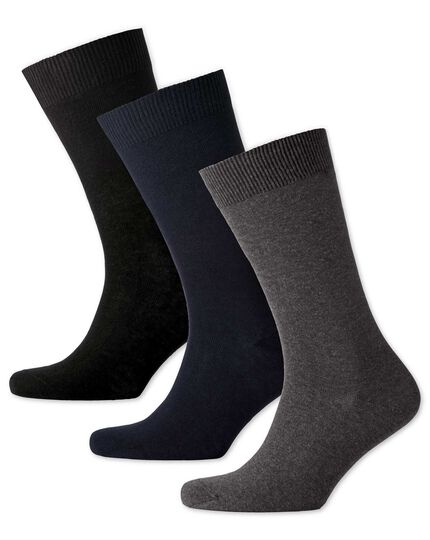 Multi cotton rich 3 pack socks