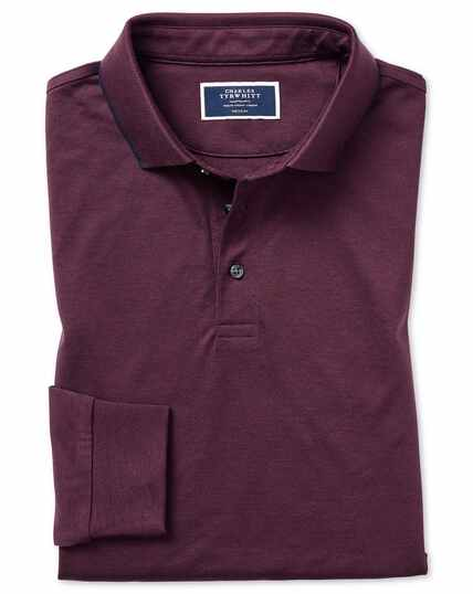 Wine cotton polo with TENCEL