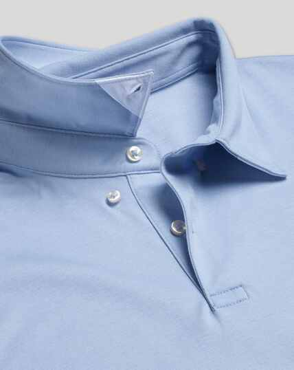 Smart Short Sleeve Jersey Polo - Sky