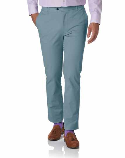 Chinos Extra Slim Fit mit Stretch in Himmelblau