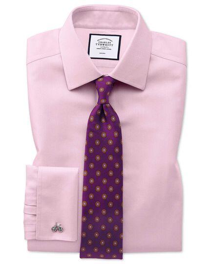 Bügelfreies Slim Fit Arrowweave-Hemd in Rosa