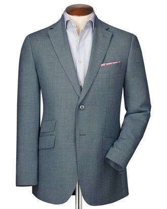 Slim fit grey birdseye wool jacket