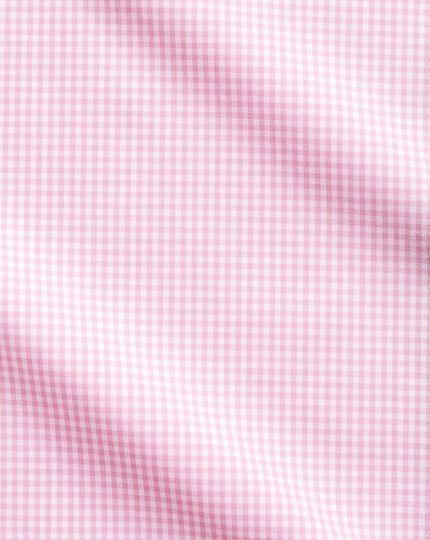 Slim fit small gingham light pink shirt