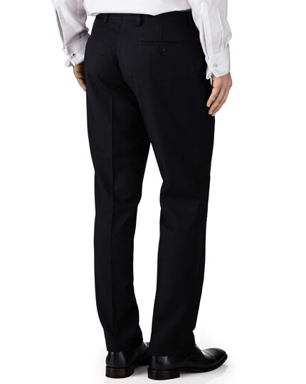 Navy extra slim fit twill business suit trouser