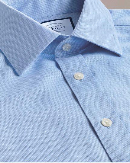 Non-Iron Arrow Weave Shirt - Sky Blue