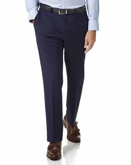 Royal blue slim fit performance suit pants