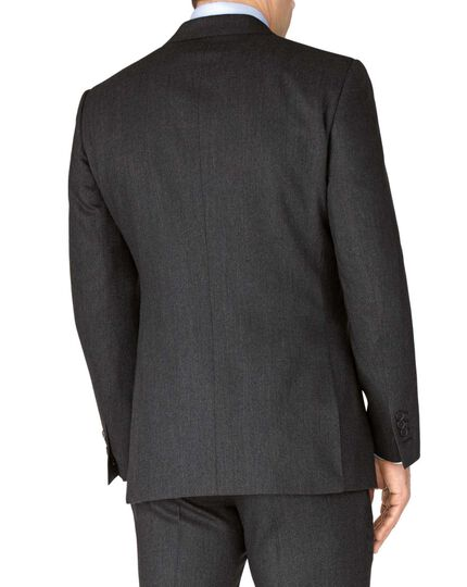 Grey slim fit saxony business suit jacket