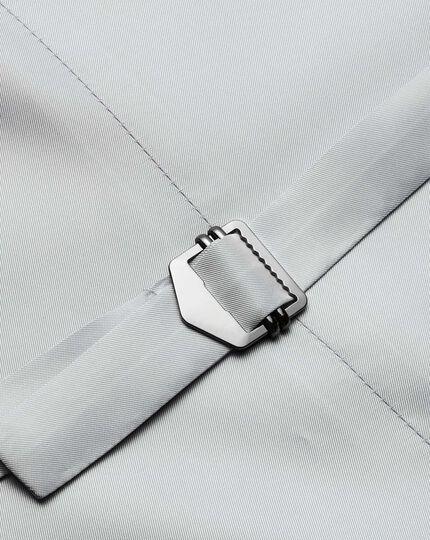 Light blue adjustable fit step weave suit waistcoat