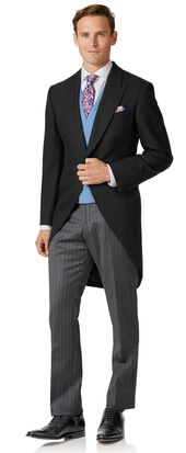 Classic Fit Hochzeits Anzug in Schwarz