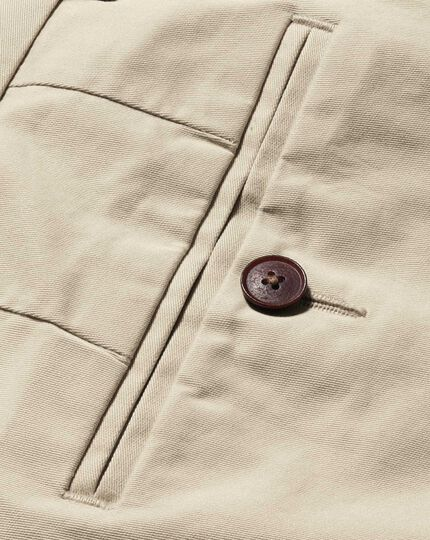 Stone classic fit stretch chinos
