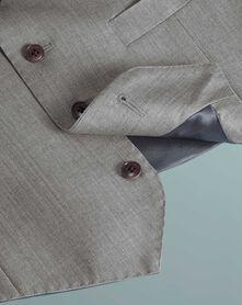 Silver grey slim fit Italian suit