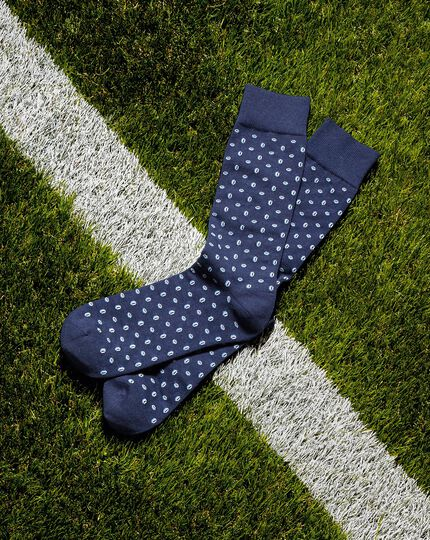 England Rugby Rugby Ball Socks - Navy & White