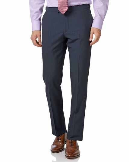 Blue Panama slim fit British suit trousers
