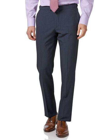 Blue Panama slim fit British suit trousers