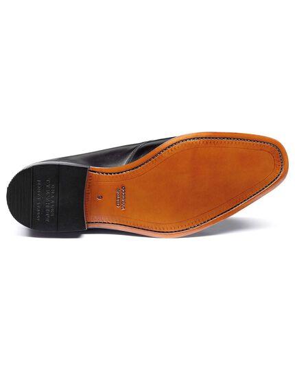 Rahmengenähte Derby-Schuhe mit 2 Ösen in Schwarz