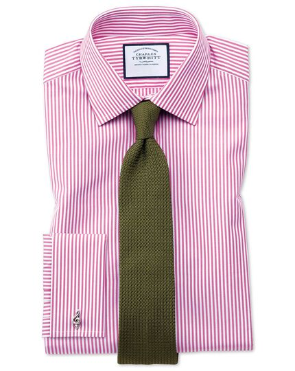 Classic fit Bengal stripe pink shirt