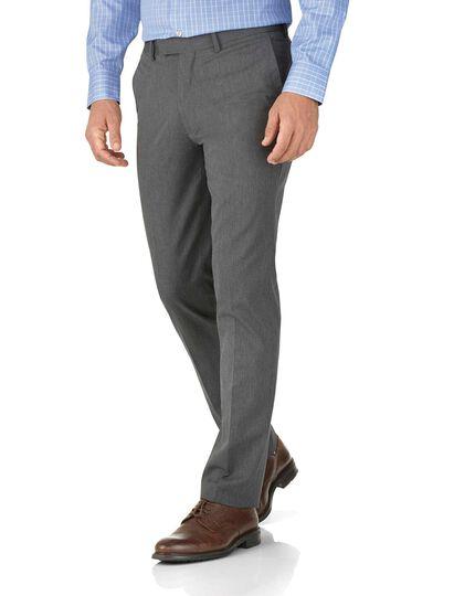Light grey extra slim fit stretch cavalry twill trousers
