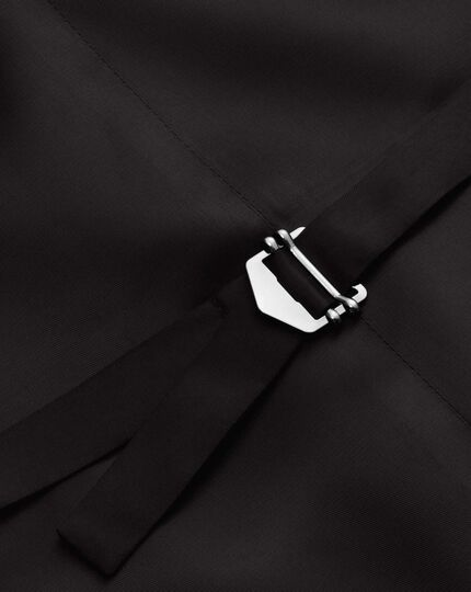 Verstellbare Business Twill-Anzugweste in Schwarz