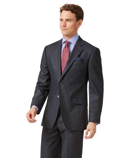 Classic Fit Anzugjacke aus Flanell mit Streifen in Anthrazit und Blau