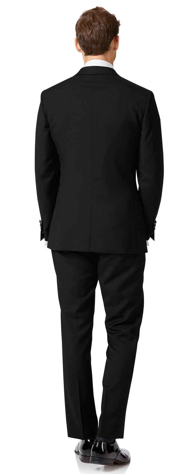 Black slim fit peak lapel dinner suit