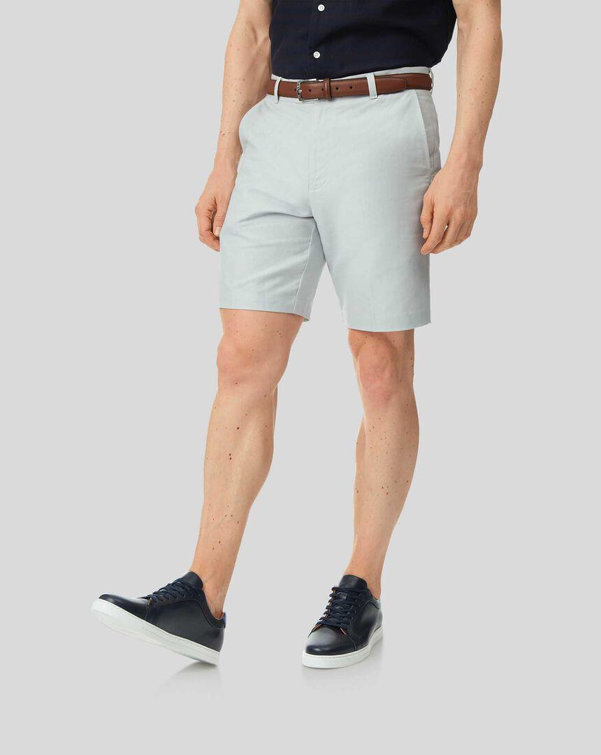 Linen Cotton Shorts - Silver