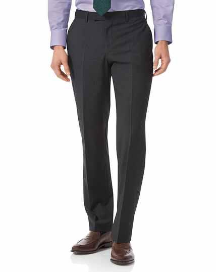 Grey check classic fit Italian suit pants