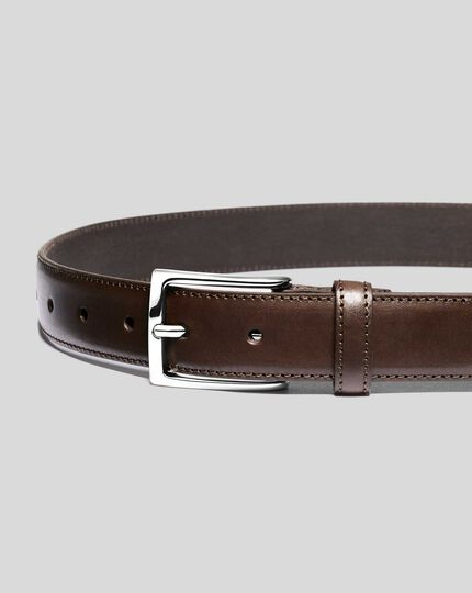Leather Formal Belt - Chocolate