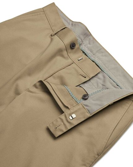 Tan non-iron ultimate chinos