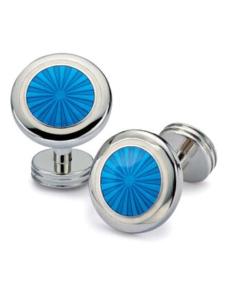 Bright blue starburst cufflinks